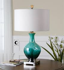 Uttermost Lamps On Sale Uttermost Yvonne Green Blue Glass Table Lamp For The Living Room