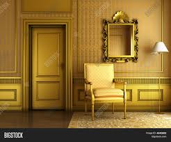 Palace Interior by Classic Palace Interior With Armchair Mirror And Golden Molding
