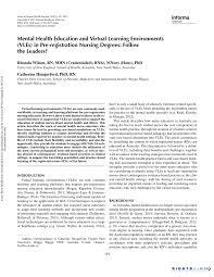 mental health education and virtual learning environments vles