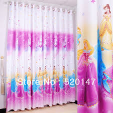 Childrens Bedroom Window Treatments Home Window Decoration Pink Hello Kitty Cartoon Curtains Printed