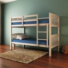 Solid Pine Timber Bunk Bed Frame Children Wooden Kids Bedroom - Timber bunk bed