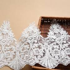 lace ribbon by the yard sale by yard white bridal veil embroidery lace fabric trim