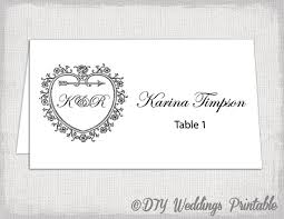 Table Card Template by Printable Place Card Template Tent Name Card Templates