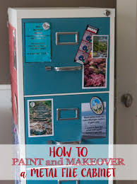 repurpose metal file cabinet how to paint and makeover a metal file cabinet rose clearfield