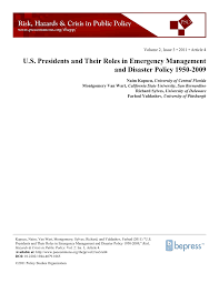 best oil ls emergency preparedness u s presidents and their roles in pdf download available