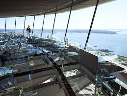 images design for space needle s glass restaurant floor