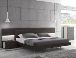 Modern Platform Bed With Lights - j u0026 m maia wenge premium queen platform bed with headboard lights