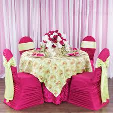 standard satin chair sash apple green cv linens