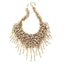 bib necklace images Fringe chain pearl bib necklace shay accessories jpg