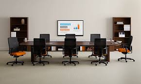 Conference Table With Chairs Preside Hon Office Furniture
