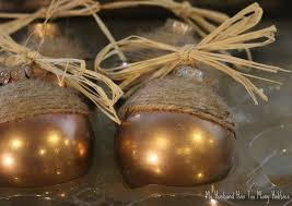 fall acorn ornaments my husband has too many hobbies