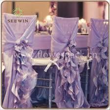 Wedding Chair Covers Cheap Fashionable Design Cheap Violet Chiffon Ruffled Wedding Chair