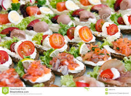 mini canape mixed mini canapes stock photo image of buffet fresh 32887616