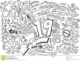 doodle sketch drawing vector royalty free stock image image