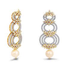 gold ear rings juli diamond gold earrings charu jewels