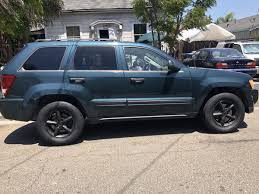 green jeep grand cherokee 2005 green jeep cherokee laredo v6 2wd cars trucks in union city