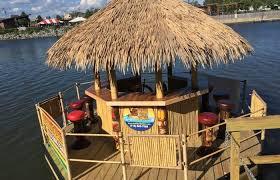Tiki Hut On Water Vacation Throw Your Own Personal Luau On Lake Erie With Buffalo Tiki Tours