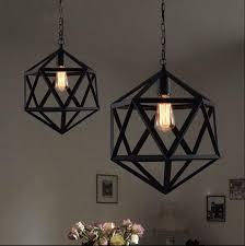 Black Iron Pendant Light Nordic Style Vintage Industrial Iron Pendant Light Retro Country