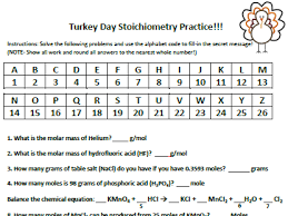 Stoichiometry Practice Worksheet Answer Key Thanksgiving Or Easter Stoichiometry Practice Worksheet