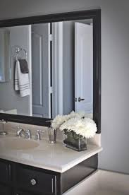 distressed wood framed bathroom mirrors vanity decoration