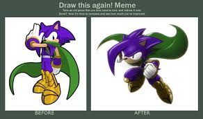 Sonic The Hedgehog Meme - draw this again meme shin the hedgehog by pak009 on deviantart