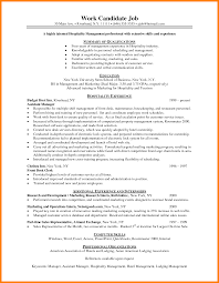 Successful Resume Format 11 Hotel Resume Format Boy Friend Letters