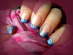 blue hearts nail design decorazione cuori blu youtube