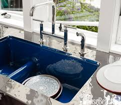 Blue Kitchen Sink Blue Kitchen Sink Kitchen Design