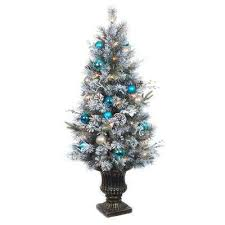 5 5 ft and flocked frosted artificial trees