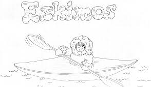 eskimo coloring pages getcoloringpages com