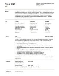 sous chef summary resume cooks resume resume cv cover letter