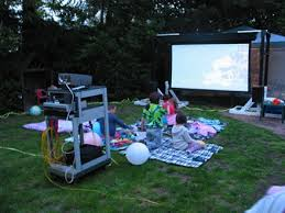 Backyard Movie Night Projector Home Backyard Movie Screen