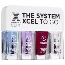 the system xcel to go clix travel sized gel like nail polish