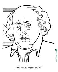 presidents coloring pages john adams