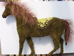Garden Topiary Wire Forms Horse Topiary Frame Only Moss Filled Five Sizes Available