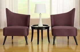 Microfiber Fabric Upholstery Contemporary Style Living Room With Purple Accent Chair And
