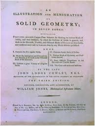 mathematical treasure john lodge cowley u0027s solid geometry