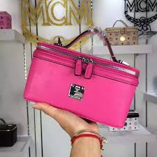 Vanity Outlet Store Mcm Small Rockstar Vanity Case In Rose Mcm Outlet Store
