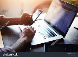 Office Table Side View Png Side View Shot Mans Hands Using Stock Photo 268450487 Shutterstock