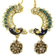 peacock design earrings peacock design kundan earrings peacock design jewellery malad