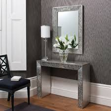 Entrance Tables And Mirrors Amazing Hallway Tables And Mirrors Adhered On Grey Patterned