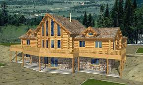 log cabin plans with basement rooms