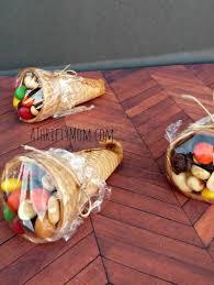 cone cornucopia snacks thanksgiving snacks a thrifty