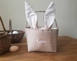personalized bunny easter basket easter basket etsy