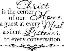 religious wall quotes christian wall decals christ is center