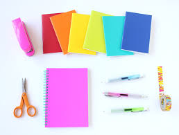 diy gold striped notebook lines across