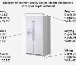 cabinet depth refrigerator dimensions counter depth refrigerator dimensions vivekiyer me