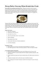 cara membuat bubur kacang ijo empuk resep bubur kacang hijau kental dan enak 1 638 jpg cb 1488881097