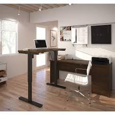 Electric Height Adjustable Computer Desk Bestar Prestige L Desk Including Electric Height Adjustable