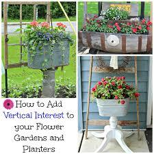 flower gardens organized clutter how to add vertical interest to the flower garden